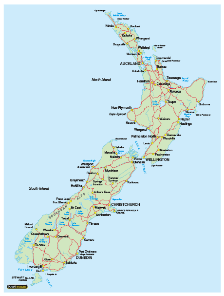 Google Maps New Zealand South Island